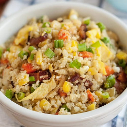 "Cauliflower Fried ""Rice"" Low Carb – So Delicious! Perfect Weeknight."