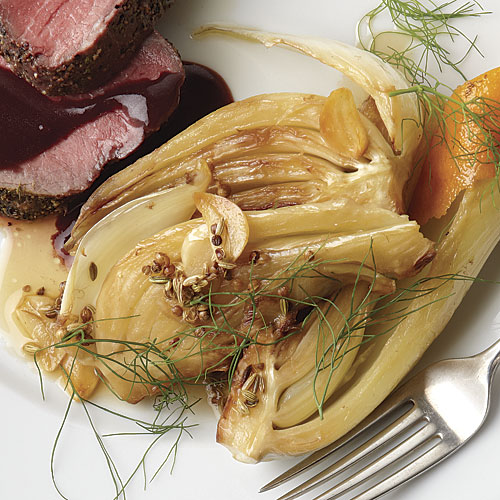 Roast Lamb Rump W. Balsamic Syrup, Braised Fennel & Orange