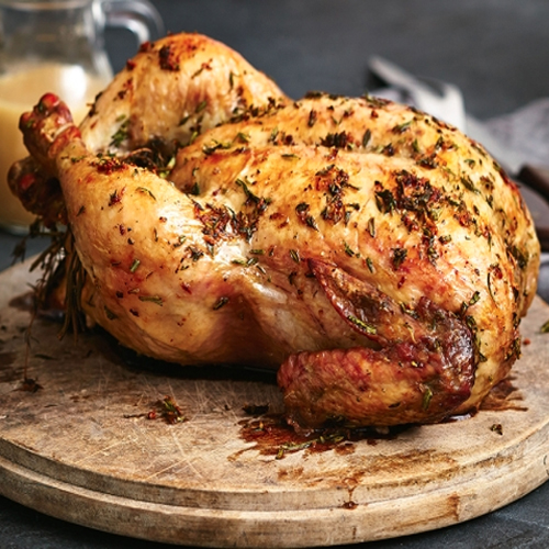 Garlic Butter Thyme Roast Chicken