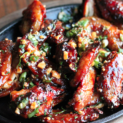 Thai Style Sticky Chicken Wings