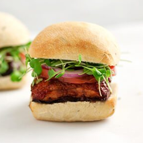Mushroom Sliders With Homemade BBQ Sauce