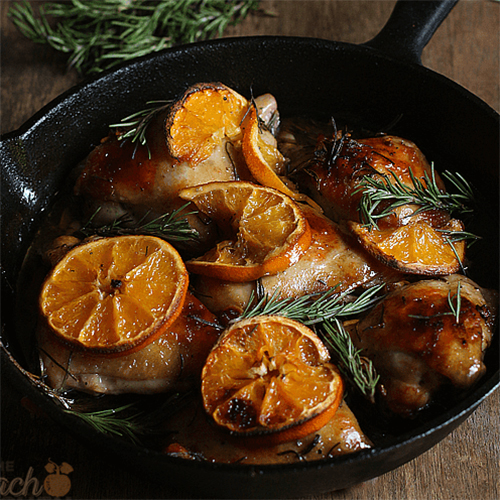 Orange & Rosemary Glazed Chicken Thighs
