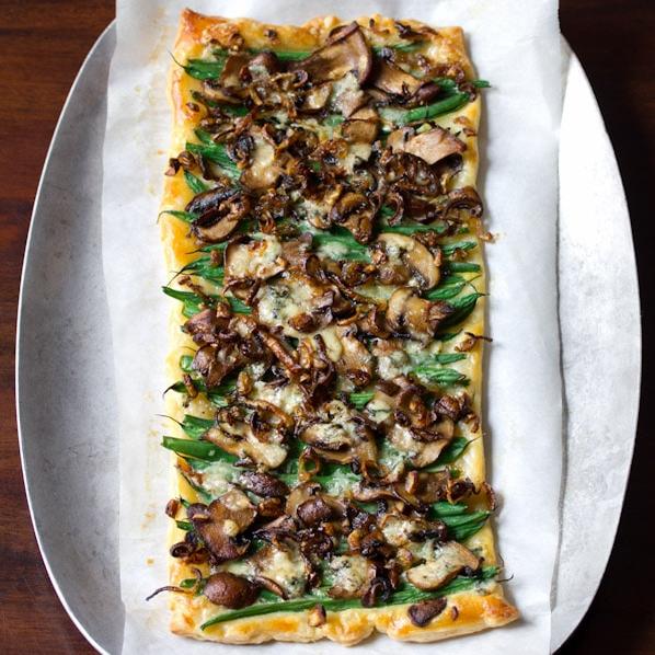 Mushroom & Green Bean Tart