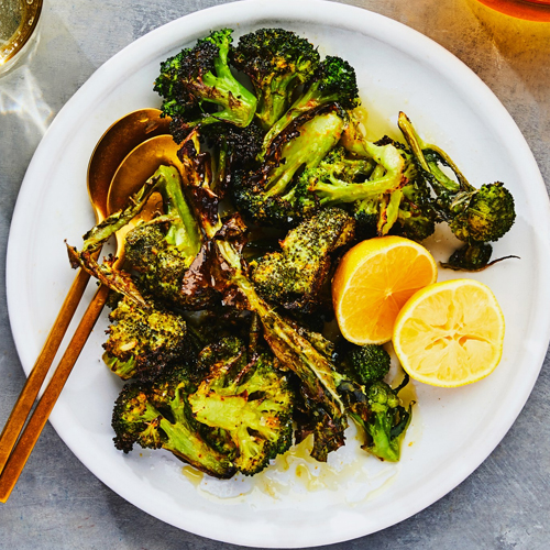 Yoghurt and Spice Roasted Broccoli