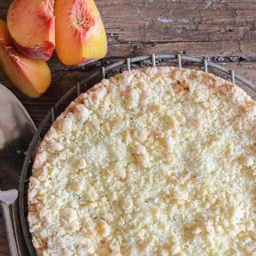 Easy Italian Peach Crumb Cake