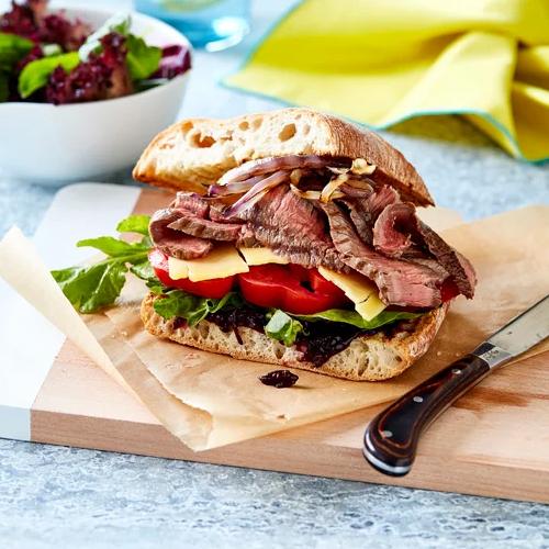 THE ULTIMATE RUMP STEAK SANDWICH